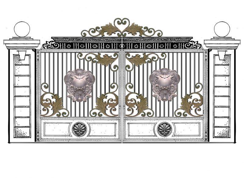 gambar desain pagar nuansa klasik